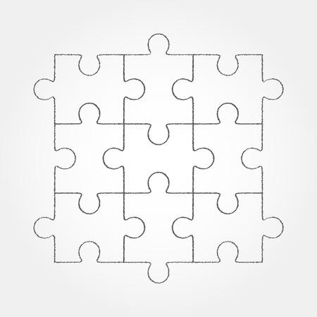 Układanka puste proste wektora dziewięć elementów