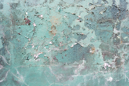 drop ceiling: Green concrete cracked painted damaged grunge wall background or texture