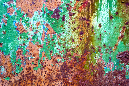 Abstract old rusty painted cracked metal background texture
