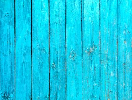 Oud blauw geschilderd houten hek - textuur of achtergrond Stockfoto - 44955710