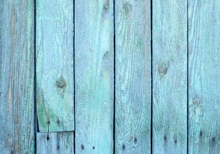 painted wood: Old painted blue wood fence - texture or background Stock Photo
