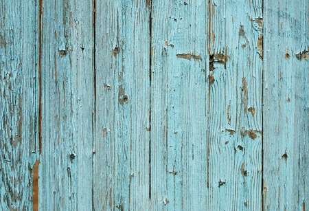 Old painted blue wood fence - texture or background Banque d'images