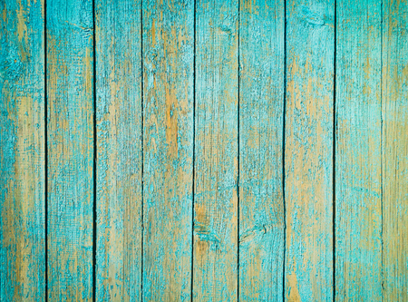 Old painted blue wood fence - texture or background Reklamní fotografie