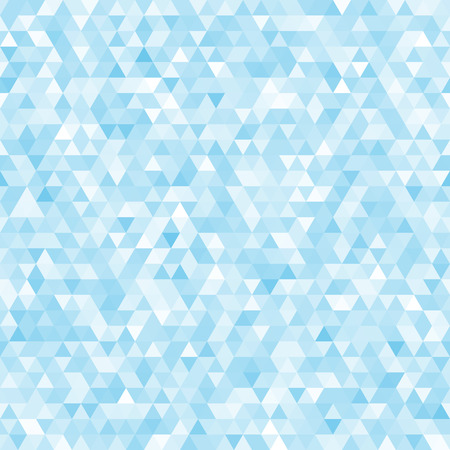 Blue seamless triangle abstract mosaic background vector.  Illustration
