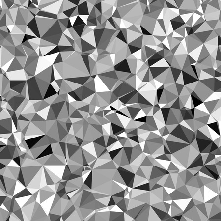 White and black triangle abstract mosaic background vector.   Illustration