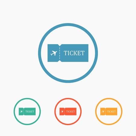 airbus: Blank plane ticket icon Illustration