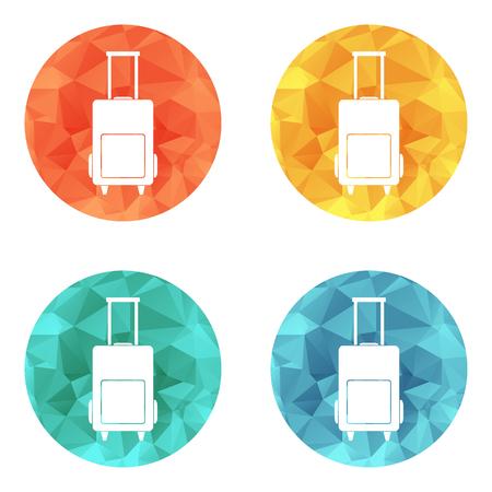 luggage bag: Luggage bag icon flat sign