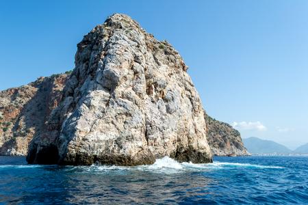 sea cliff: High stone cliff in the Mediterranean sea.