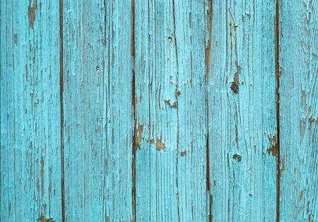 Oud blauw geschilderd houten hek - textuur of achtergrond Stockfoto - 50994005