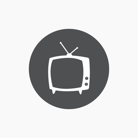 tv icon: TV icon flat simple symbol. Vector illustration Illustration