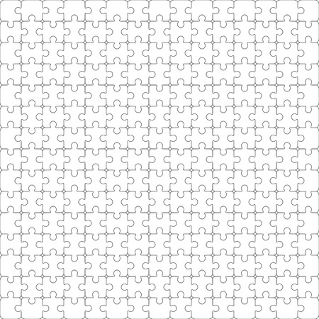 Jigsaw puzzle vector, blank simple template, 150 pieces