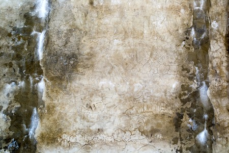 Aged old dirty concrete cracked wall texture or background Stock Photo