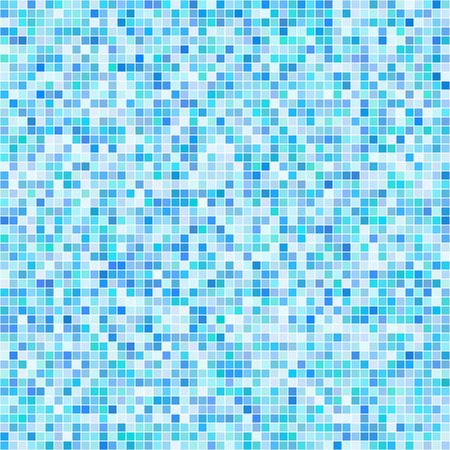 transparency: blue tiles mosaic pattern background vector with differebt transparency