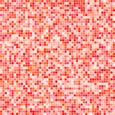 Red tiles mosaic pattern background vector with different transparency Illustration