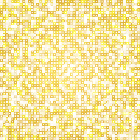 transparency: Seamless golden tiles mosaic pattern background vector with different transparency Illustration