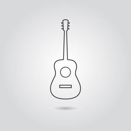 Classic guitar icon vector isolated