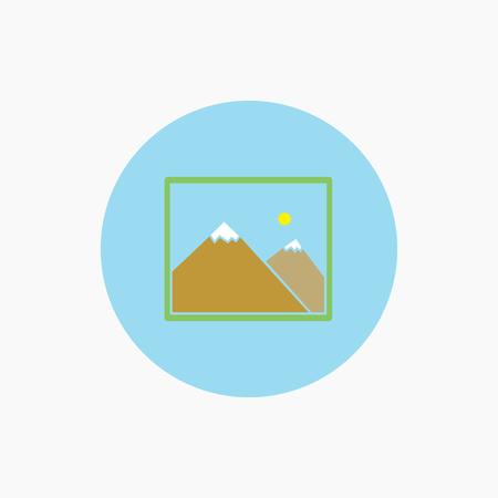 photograph icon vector. Flat picture icon Illustration