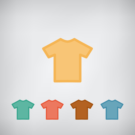 T-shirt flat simple blank icon vector. Clothes symbol. Illustration