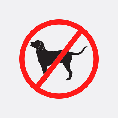 Circle prohibited sign for no dog or no animal isolated