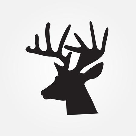 Deer head - vector illustration, wild nature symbol