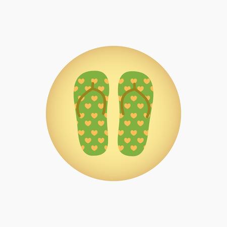 Flip flops icon. Vacation symbol. Illustration