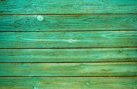 Green wall wooden texture as background. Closeup