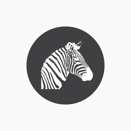 Zebra head icon
