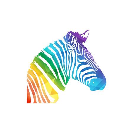 Zebra head icon