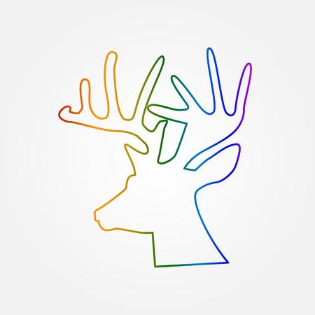 Deer head - illustration, wild nature symbol
