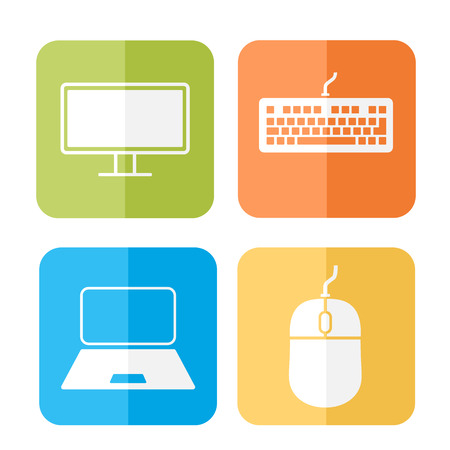 device: Computer related device icons vector