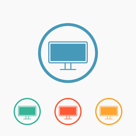 pc monitor: Computer monitor pc icon
