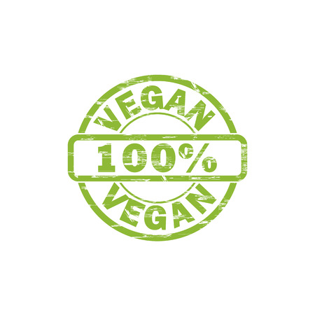 per: VEGAN stamp sign.
