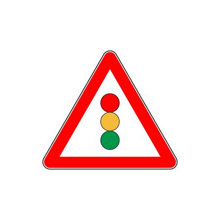 Road sign traffic light vector