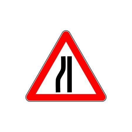 Traffic road sign narrow Illustration