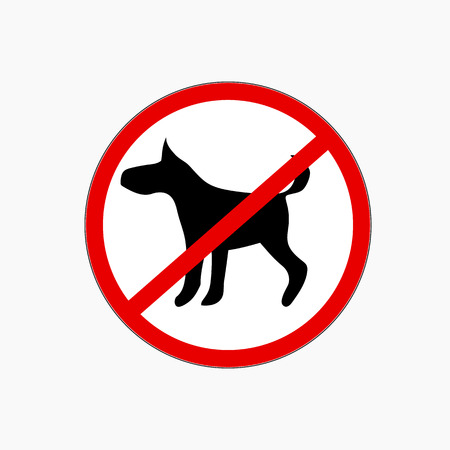restricted area sign: No dog allowed vector sign