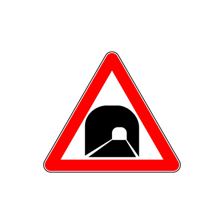 Russia tunnel ahead road sign