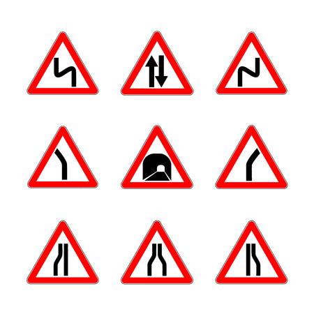 dangerous: Red Dangerous signs