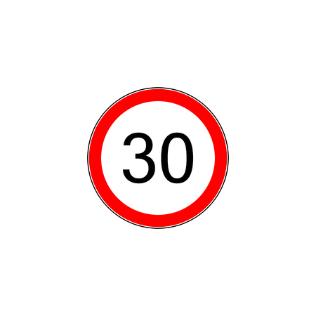 Prescribed minimum speed oad sign