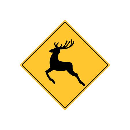 danger ahead: Deer Road Sign Warning