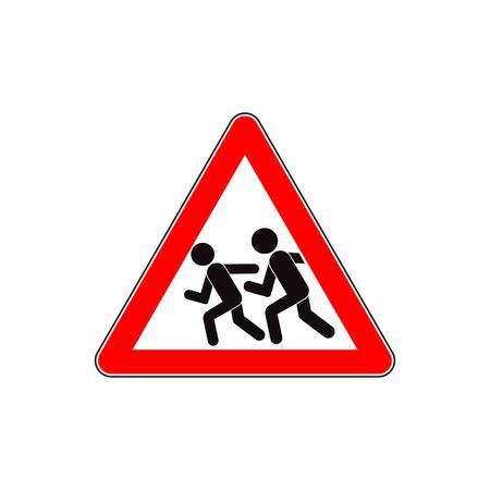 Kids road sign. Illustration