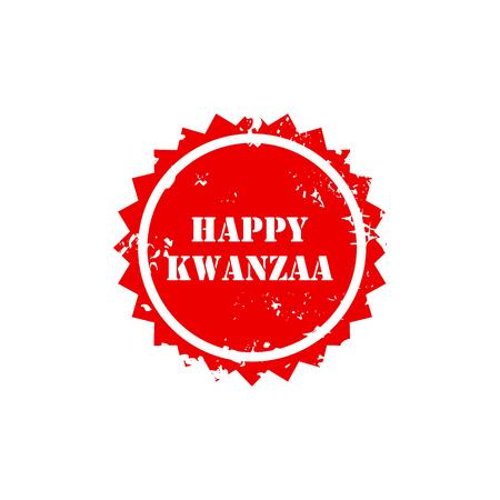 kwanzaa: illustration of a stamp for Happy Kwanzaa.