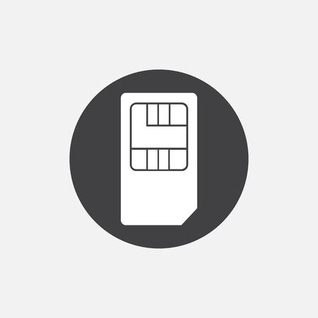 contact info: Simple web icon: SIM card