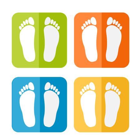 Footprint icon Illustration