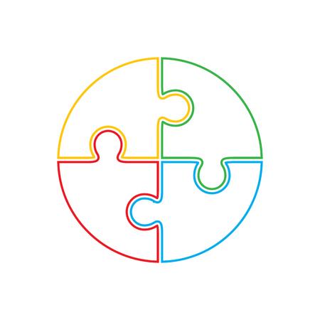 円の形のジグソー パズル。