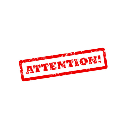 ATTENTION grunge vector stamp with scratches
