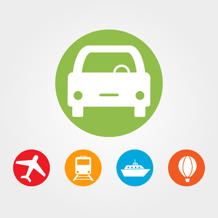 Travel and tourism icons - flat vector Illustration