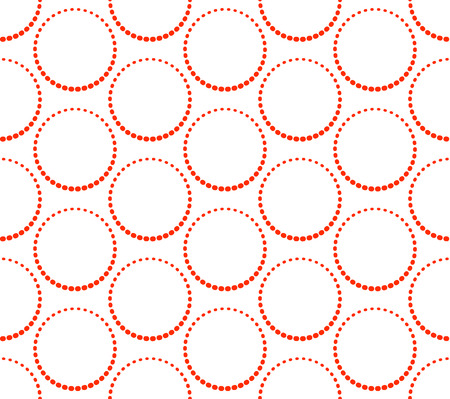 Red circles seamless background