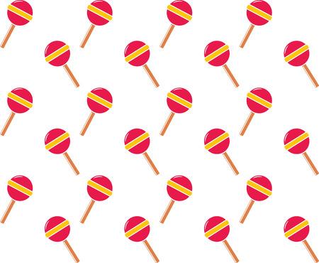 Seamless background vector pattern of lollipop illustration.