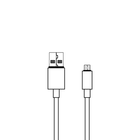 USB and micro usb cable vector icon 向量圖像