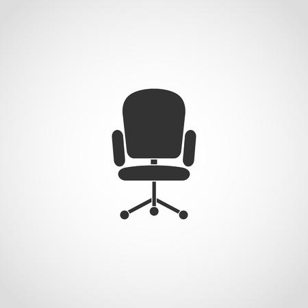 Computer armchair vector icon.